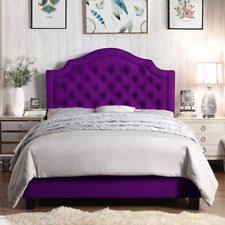 purple platform bed. Fine Bed Twin Full Queen King Purple Upholstered Platform Bed Frame Tufted Fabric  Bedroom In R