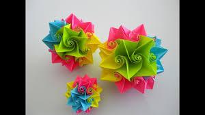 Flower Made In Paper Flower Ball Made Of Paper Blütenball Aus Papier Origami