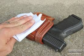 moisture can damage holsteray lead to mold and other problems so it s critical to keep holsters dry that being said never use any artificial heat
