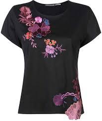 Josie Natori Size Chart Josie Natori Embroidered T Shirt Edwardian Dress