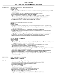 Social Media Skills Resume Social Media Internship Resume Samples Velvet Jobs 16