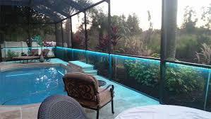 bird cage pool led strip blue close