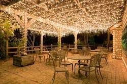 backyard string lighting. solarpowered string lights 100 fairy measuring 17 meters long that are charged by the sun 1399 backyard lighting r