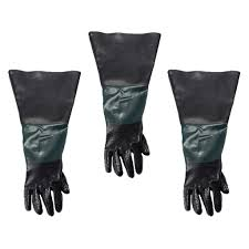 get ations baoblaze 3pcs 60cm left work gloves for blasting sand blaster sand blast cabinet industrial gloves long