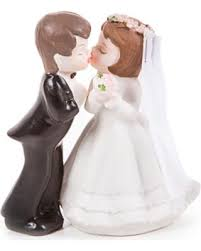 Shopping Special Kissing Bride And Groom Cake Topper Porcelain 4