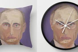 a user on society6 the where you can all manner of printed items is ing george bush s paintings printed on household items like