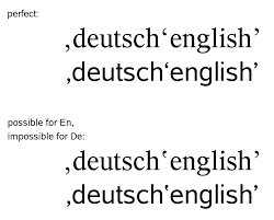 quotes marks unicode mail list archive re glyphs for german quotation marks