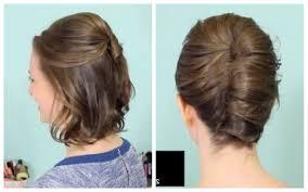 Haare Styles L Ssige Hochsteckfrisur F R Kurze Haare Haare Styles
