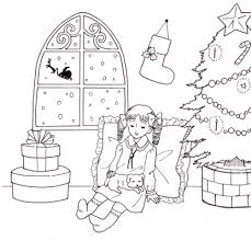 塗り絵線画イラスト クリスマスのイラストポップのイラストかわいい