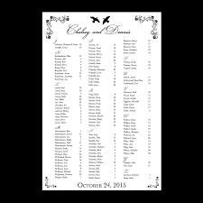 Doves Seating Chart Dot And Bow