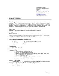 Resume Headline Computer Science Cv Resume Format Sample Cv Resume