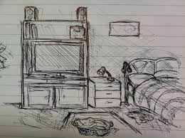 Bedroom Drawing Pencil Design Basic On Living Room Simple Home