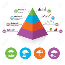 Life Chart Template Pyramid Chart Template Life Real Estate Or Home Insurance Icons