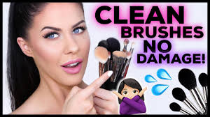 how to clean makeup brushes properly zero damage keep them soft