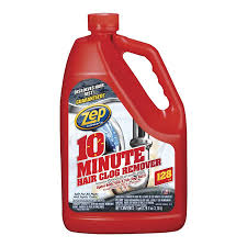 zep commercial 10 minute hair clog remover 128 oz drain cleaner
