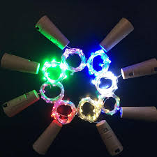 1m 2m20 Led Wine Bottle Lights Cork Battery Powered Garland Diy Christmas String Lights For Party Halloween Wedding Decoracion