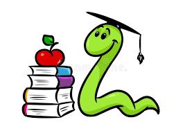 bookworm book teaching cartoon stock ilration ilration of worm book 100791076