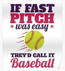Softball Ideas Posters Redbubble