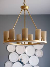 how to spray paint a light fixture dining room reveal
