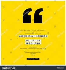 Seminar Design Template Business Seminar Invitation Design Template Time Stock
