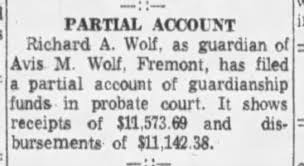 Richard Wolf guardian of Avis Wolf - Newspapers.com