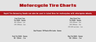 Car Tire Balancing Beads Chart Tire Charts Rapid Tire Balancing Beads