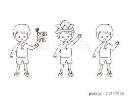 子どもの日 線画 可愛いのイラスト素材 21447976 Pixta