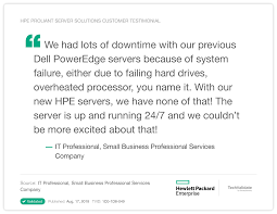 Hpe Proliant Servers Collection Of Proof Points Hewlett