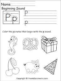 Please let us know using our contact webpage, via email, or this is why we created two different printing options. Free Beginning Sounds Worksheet Letter P Free4classrooms
