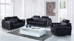 modern black leather couches. Divani Casa Huron Modern Black Leather Sofa Set \u2013 MODEL 72507 Modern Black Leather Couches