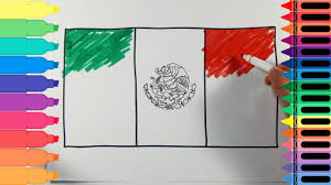 mexican flag waving drawing. Unique Mexican HowToDraw ArtColorsForKids LearnDrawing On Mexican Flag Waving Drawing T