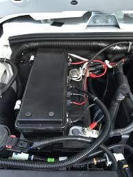 diy jeep wrangler jk waterproof accessory fuse box vintage i used industrial strength velcro strips to secure the box to the battery the box is easily removed and set aside leave slack in your wires to pull the