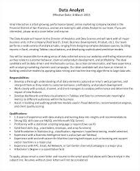 Data Analyst Cover Letter Template For Cover Letter Free Cover