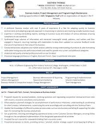 Business Analyst Resume Sample Impressive Business Analyst CV Format Business Analyst Resume Sample And Template