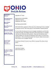 endorsements ohio prolife action endorsement letter