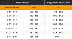 Bicycle Frame Size Chart Hybrid Bike Frame Height Online Charts Collection