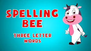 spelling bee sight words for kids 3 letter words learn english you