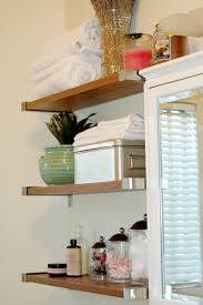 bathroom bathroom shelves wood surprising white recessed for small storage bathroom appealing small decoration using
