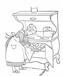 Small Picture Grandma Cooking for in Gran Parents Day Coloring Page NetArt