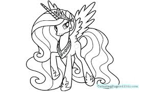 My Little Pony Celestia Coloring Pages My Little Pony Coloring Pages