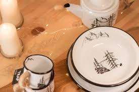 """<b>Набор эмалированной посуды</b> """"Лес и горы"""""""