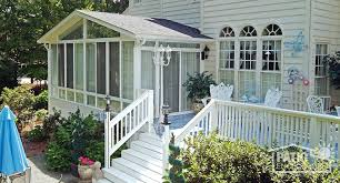 sun room additions. White All Season Room With Gable Roof Sun Additions I
