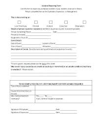 Blank Incident T Template Medical Form Word Editable Person