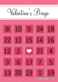Valentine's Bingo - Free Printable Download - Makoodle