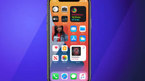 changes to the iPhone home screen ...