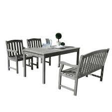 renaissance hand sed wood 4 piece outdoor dining