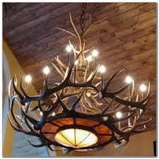 diy faux antler chandelier