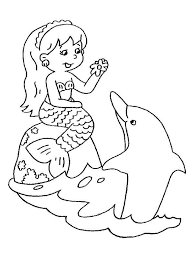 Small Picture Mermaid Dolphin Coloring Pages Coloring Pages