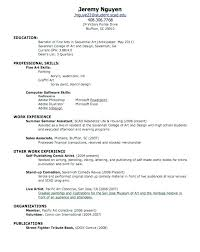 A High School Resume Out Of College Resume Fresh Out Of High School