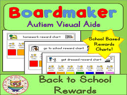 Back To School Visual Aids Reward Charts Boardmaker Visual Aids For Autism Pecs